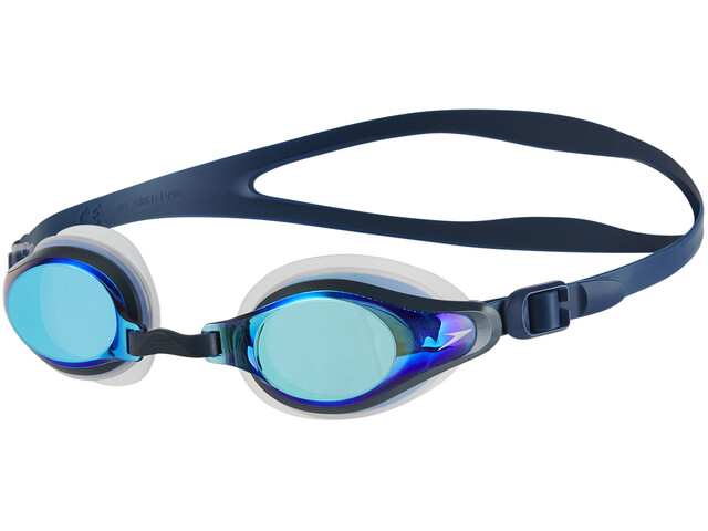 speedo Mariner Supreme Mirror Goggles clear/navy/blue mirror